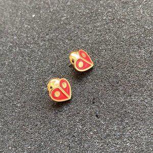 Kate Spade Cute Little Ladybug Earrings